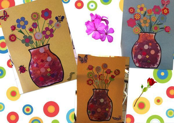 Vase printanier Bricolage printemps objets naturels idees
