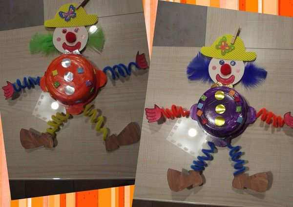 Super Clown articulé - activité manuelle clown articulé PM44