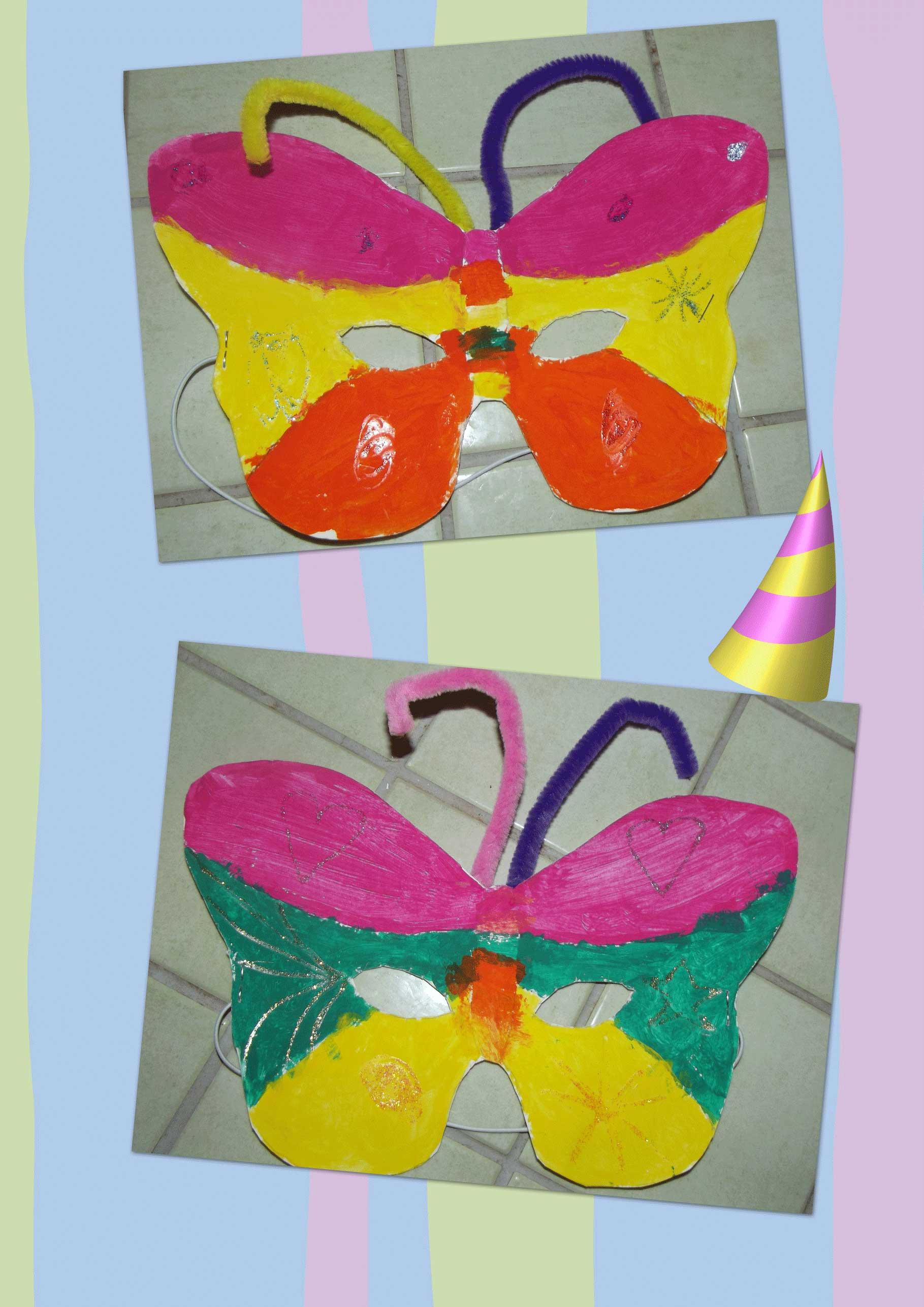 Activite carnaval page 2 - Masque papillon carnaval ...